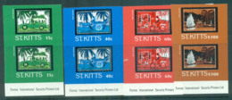 St Kitts 1985 Batik Designs IMPERF Pairs MUH Lot68629 - St.Kitts And Nevis ( 1983-...)
