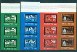 St Kitts 1985 Batik Designs IMPERF Str 3 MUH Lot68628 - St.Kitts And Nevis ( 1983-...)