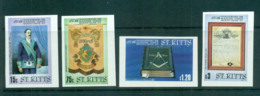 St Kitts 1985 Mt. Olive Masonic Lodge IMPERF MUH Lot68463 - St.Kitts And Nevis ( 1983-...)