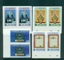 St Kitts 1985 Mt. Olive Masonic Lodge IMPERF Pair MUH Lot68466 - St.Kitts And Nevis ( 1983-...)