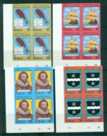 St Kitts 1985 Sir Francis Drake IMPERF Cyl. Blks 4 MUH Lot68718 - St.Kitts And Nevis ( 1983-...)