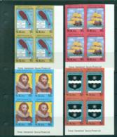 St Kitts 1985 Sir Francis Drake IMPERF Imprint Blks 4 MUH Lot68716 - St.Kitts And Nevis ( 1983-...)