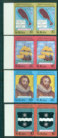 St Kitts 1985 Sir Francis Drake IMPERF Pairs MUH Lot68711 - St.Kitts And Nevis ( 1983-...)