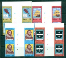St Kitts 1985 Xmas IMPERF Gutter Blks 4 MUH Lot68620 - St.Kitts And Nevis ( 1983-...)