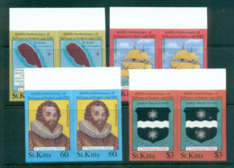 St Kitts 1985 Xmas IMPERF Pairs MUH Lot68622 - St.Kitts And Nevis ( 1983-...)