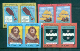 St Kitts 1985 Xmas IMPERF Pairs MUH Lot68623 - St.Kitts And Nevis ( 1983-...)