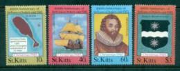 St Kitts 1985 Xmas, Francis Drake MUH - St.Kitts And Nevis ( 1983-...)