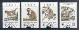 St Kitts 1986 WWF Green Monkey FU - St.Kitts And Nevis ( 1983-...)