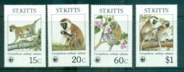 St Kitts 1986 WWF Green Monkey MUH Lot64106 - St.Kitts And Nevis ( 1983-...)