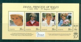 St Kitts 1998 Princess Diana In Memoriam MS MUH Lot81825 - St.Kitts And Nevis ( 1983-...)