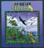 St Kitts 2001 Caribbean Birds MS MUH - St.Kitts And Nevis ( 1983-...)