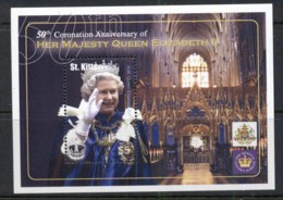 St Kitts 2003 QEII Coronation 50th Anniv. MS MUH - St.Kitts And Nevis ( 1983-...)