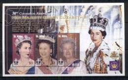 St Kitts 2003 QEII Coronation 50th Anniv. Sheetlet MUH - St.Kitts And Nevis ( 1983-...)