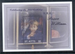 St Kitts 2003 Royalty, Prince William 21st Birthday MS MUH - St.Kitts And Nevis ( 1983-...)