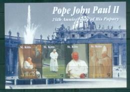 St Kitts 2004 Pope John Paul II MS MUH Lot81514 - St.Kitts And Nevis ( 1983-...)