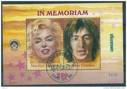 1284 Hungary John Lennon Beatles Actress Movie Marilyn Monroe Overprinted Memorial Sheet MNH RARE - Music