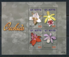 St Kitts 2007 Flowers, Orchids Sheetlet MUH - St.Kitts And Nevis ( 1983-...)