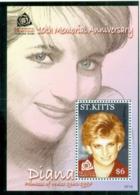 St Kitts 2007 Princess Diana In Memoriam, 10th Anniv., In Loving Memory MS MUH - St.Kitts And Nevis ( 1983-...)