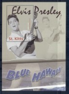 St Kitts 2010 Elvis Presley 75th Birthday, Blue Hawaii MS MUH - St.Kitts And Nevis ( 1983-...)
