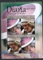 St Kitts 2011 Princess Diana 50th Birthday Anniv. MS MUH - St.Kitts And Nevis ( 1983-...)