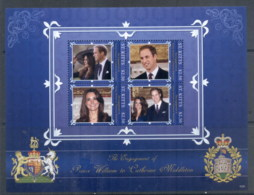 St Kitts 2011 Royal Engagement William & Kate #1029 $2.50 MS MUH - St.Kitts And Nevis ( 1983-...)