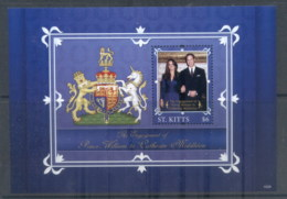 St Kitts 2011 Royal Engagement William & Kate #1029 $6 MS MUH - St.Kitts And Nevis ( 1983-...)