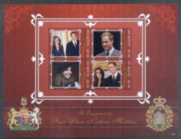 St Kitts 2011 Royal Engagement William & Kate #1030 $2.50 MS MUH - St.Kitts And Nevis ( 1983-...)