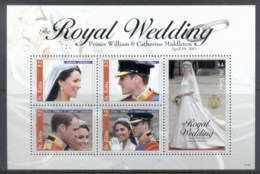 St Kitts 2011 Royal Wedding William & Kate #1116 $2,$4 MS MUH - St.Kitts And Nevis ( 1983-...)