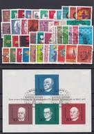 Bundesrepublik, Kpl. Jahrgang1967/68, Gest. (K 3433) - [7] Federal Republic