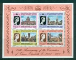 Montserrat 1978 QEII Coronation, 25th Anniversary , Royalty MS MUH - Montserrat