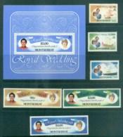 Montserrat 1981 Charles & Diana Royal Wedding + MS MUH Lot81894 - Montserrat