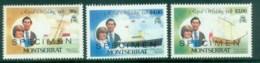 Montserrat 1981 Charles & Diana Royal Wedding 3v. SPECIMEN Opt MUH Lot81895 - Montserrat