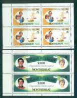 Montserrat 1981 Charles & Diana Wedding 2x Booklet Panes MUH Lot45109 - Montserrat