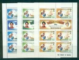 Montserrat 1981 Charles & Diana Wedding 3x Sheetlets MUH Lot45111 - Montserrat