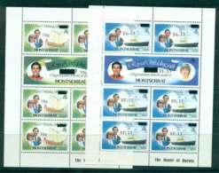 Montserrat 1981 Charles & Diana Wedding Surcharged  2x Sheetlets MUH Lot45112 - Montserrat