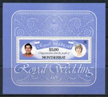 Montserrat 1981 Royal Wedding Charles & Diana MS MUH - Montserrat