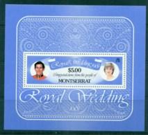 Montserrat 1981 Royal Wedding, Charles & Diana MS MUH - Montserrat