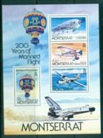 Montserrat 1983 Manned Flight Bicentenary SPECIMEN MS MUH - Montserrat
