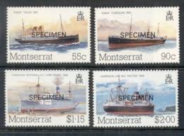 Montserrat 1984 Packet Boats SPECIMEN MUH - Montserrat