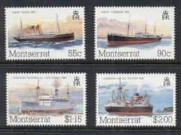 Montserrat 1984 Packet Boats, Ships MUH - Montserrat