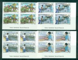 Montserrat 1985 Cotton Industry IMPERF Imprint Blks 4 MUH Lot68667 - Montserrat