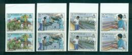 Montserrat 1985 Cotton Industry IMPERF Pairs MUH Lot68590 - Montserrat