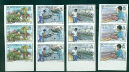 Montserrat 1985 Cotton Industry IMPERF Str 3 MUH Lot68663 - Montserrat