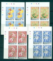 Montserrat 1985 Indigenous Orchids IMPERF Cyl. Traffic Light Blks 4 MUH Lot68794 - Montserrat