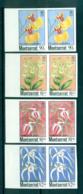 Montserrat 1985 Indigenous Orchids IMPERF Pairs MUH Lot68801 - Montserrat