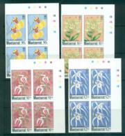 Montserrat 1985 Orchids IMPERF Cyl. Traffic Light Blks 4 MUH Lot68575 - Montserrat