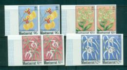 Montserrat 1985 Orchids IMPERF Pairs MUH Lot68574 - Montserrat