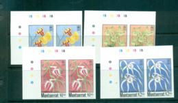 Montserrat 1985 Orchids IMPERF Pairs MUH Lot68577 - Montserrat