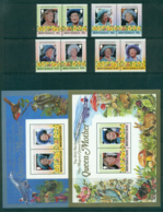 Montserrat 1985 Queen Mother 85th Birthday + 2x MS MUH Lot30256 - Montserrat