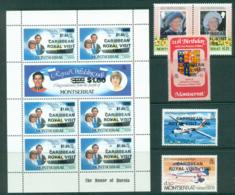 Montserrat 1985 Royal Visit Opts + MS MUH Lot30259 - Montserrat